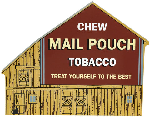Chew Mail Pouch Tobacco Wood Shelf Sitter - Celebrate Local, Shop The Best of Ohio