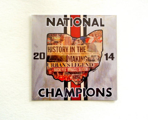 Ohio State 2014 National Champions 8x8 Print
