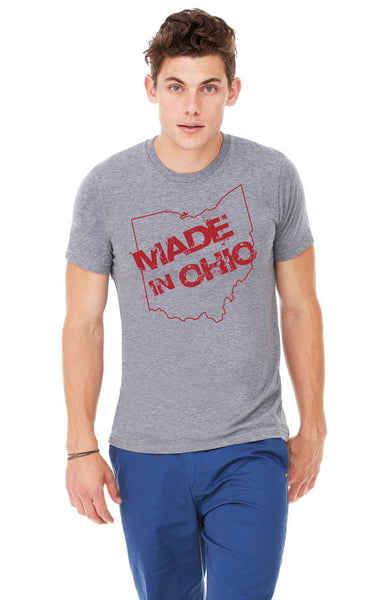 Made in Ohio Gray Crew T-Shirt - Celebrate Local, Shop The Best of Ohio