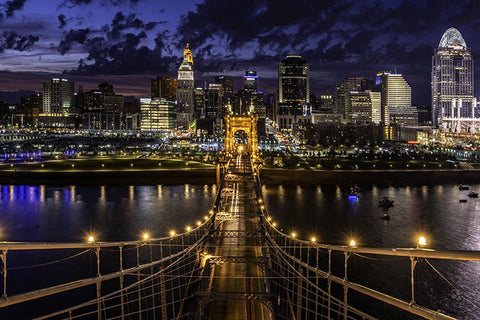 Top of the Roebling Bridge -  Unframed Photographic Print - Celebrate Local, Shop The Best of Ohio