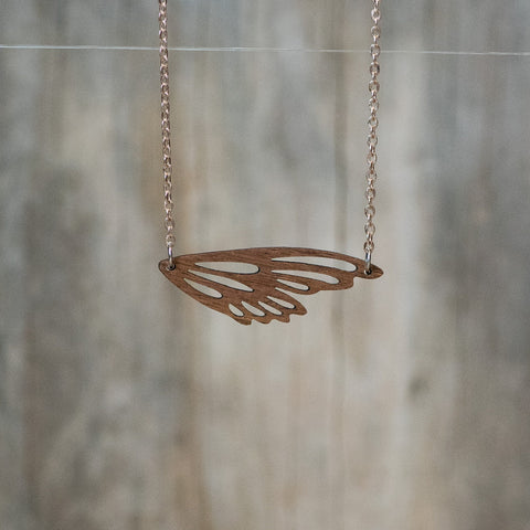 Natural Walnut Wing Necklace - Celebrate Local, Shop The Best of Ohio