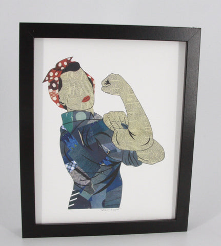 Rosie The Riveter World War II Inspired Collage Print - Celebrate Local, Shop The Best of Ohio