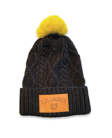 Columbus 96 Chunky Knit Pom Pom Beanie Hat - Celebrate Local, Shop The Best of Ohio