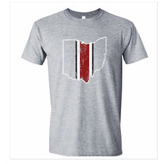 Ohio Helmet Stripe Unisex T-Shirt - Grey