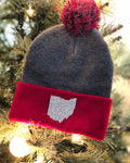 Sparkle Ohio Knit Pom Pom Hat
