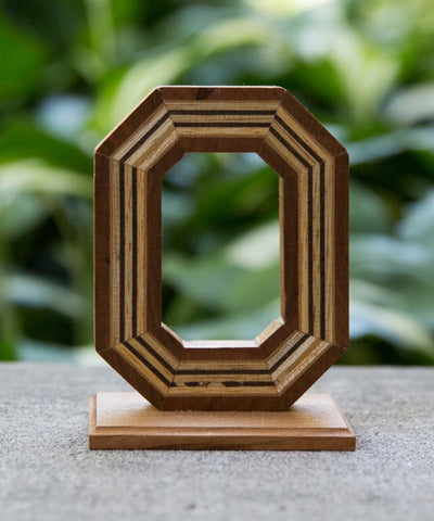 Block O Wood - Mounted - Celebrate Local, Shop The Best of Ohio