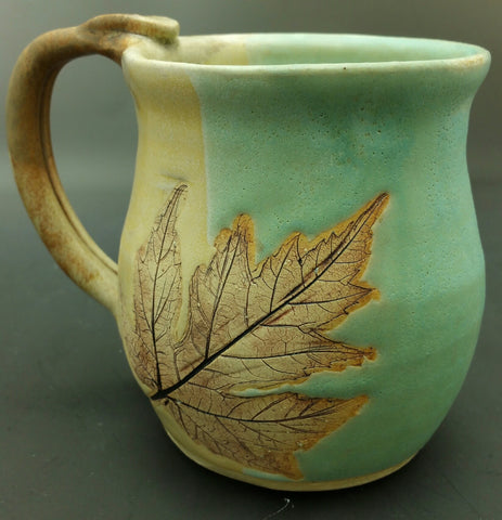 Earthtone Maple Leaf Hand Thrown Ceramic Mug - Celebrate Local, Shop The Best of Ohio