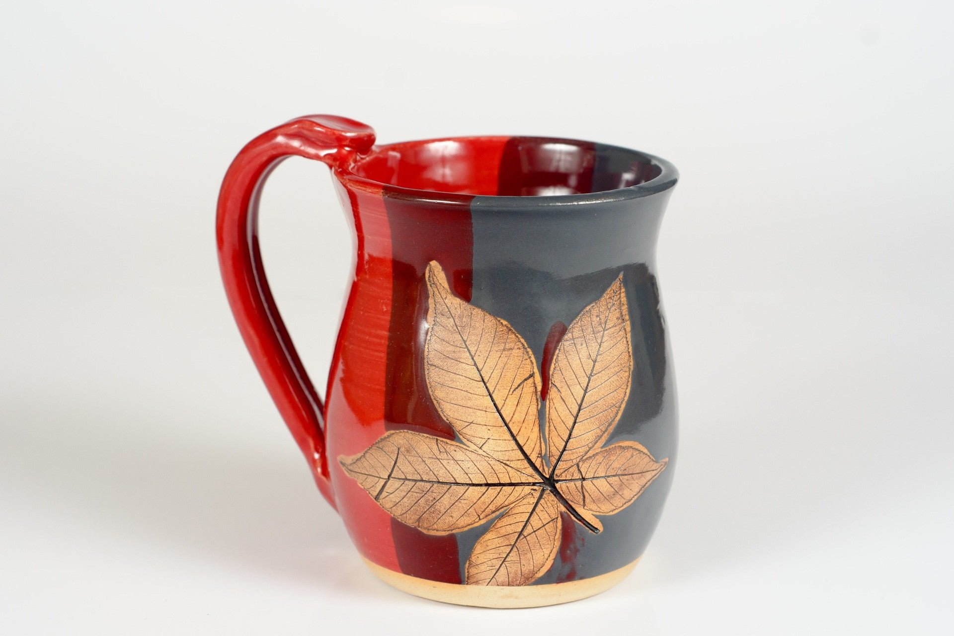 Buckeye Leaf Hand Thrown Ceramic Mug - Celebrate Local, Shop The Best of Ohio