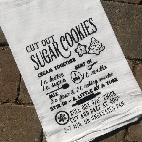 Holiday Tea Towel Cut Out Sugar Cookies Recipe - Celebrate Local, Shop The Best of Ohio
