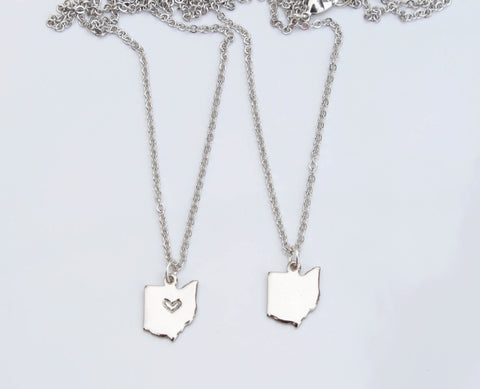 Silver Ohio Necklace - Blank - Celebrate Local, Shop The Best of Ohio