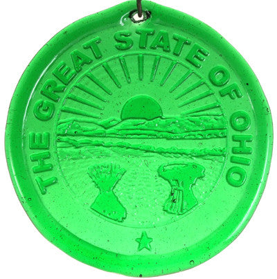 State Seal of Ohio - Recycled Glass Suncatcher - Celebrate Local, Shop The Best of Ohio
