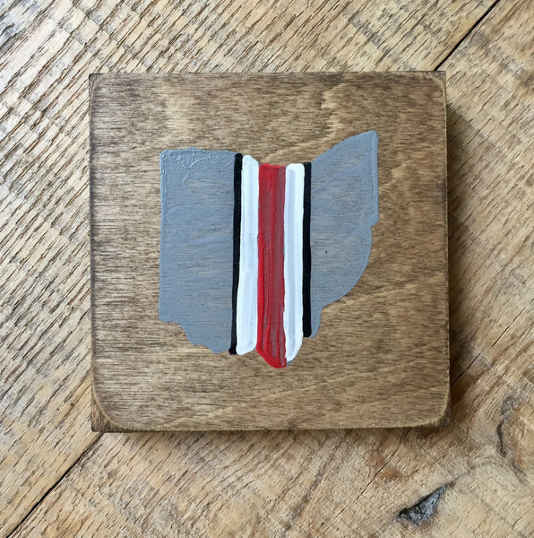 Buckeye Helmet Stripe Coaster - Celebrate Local, Shop The Best of Ohio
