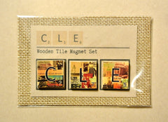 Scrabble CLE Wood Tile Magnet Set - Celebrate Local, Shop The Best of Ohio