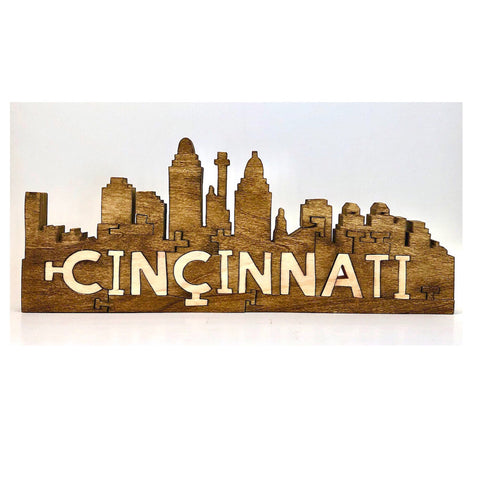 Cincinnati Skyline Wood Puzzle - Celebrate Local, Shop The Best of Ohio
