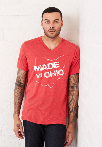 Made In Ohio Crew T-Shirt - Red - Celebrate Local, Shop The Best of Ohio