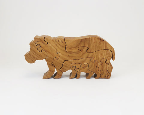 Hippo Wood Puzzle - Celebrate Local, Shop The Best of Ohio