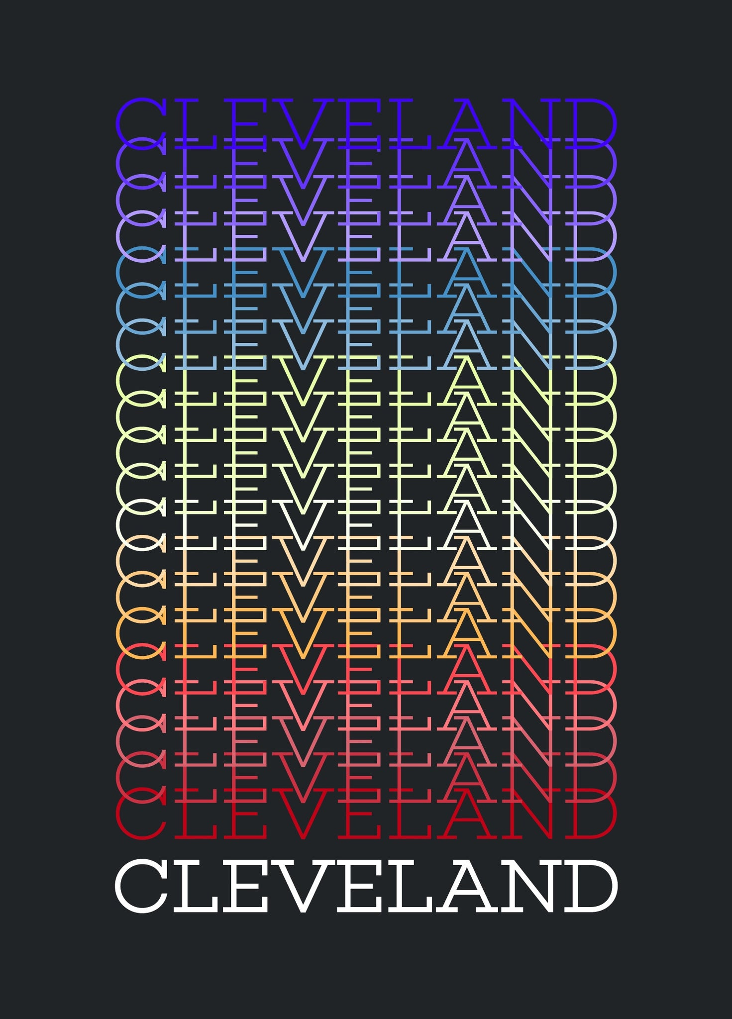 Cleveland Rainbow Print - Celebrate Local, Shop The Best of Ohio