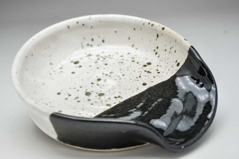 Bold Contrast Hand Thrown Ceramic Spoon Rest - Celebrate Local, Shop The Best of Ohio