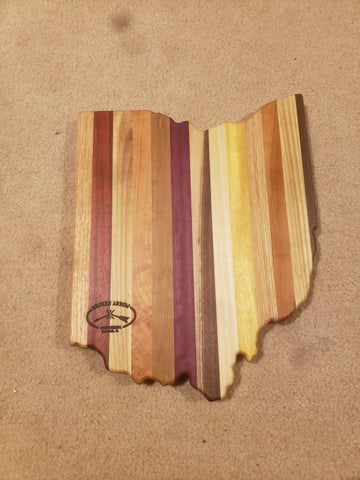 Ohio Shaped Wood Cutting Board - Celebrate Local, Shop The Best of Ohio