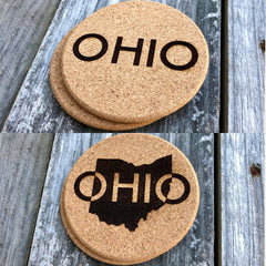 Ohio Cork Coasters (Variety of Images)