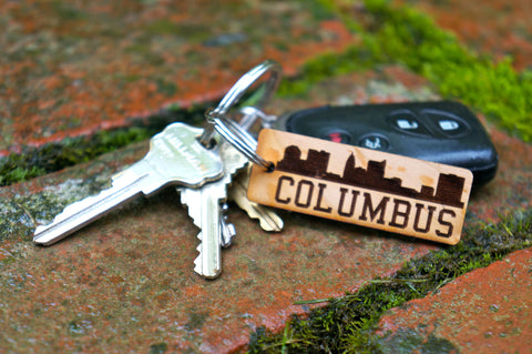 Columbus, Ohio Skyline Wood Key Chain - Celebrate Local, Shop The Best of Ohio