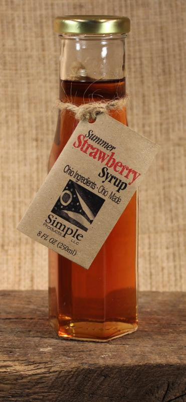Summer Strawberry Syrup (8oz) - Celebrate Local, Shop The Best of Ohio