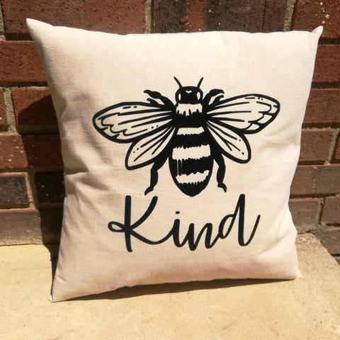 Bee Kind Canvas Pillow - Celebrate Local, Shop The Best of Ohio