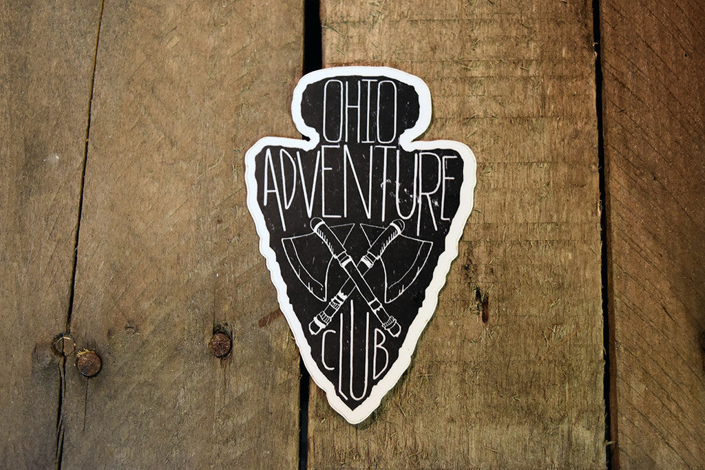 Ohio Adventure Club Sticker - Celebrate Local, Shop The Best of Ohio