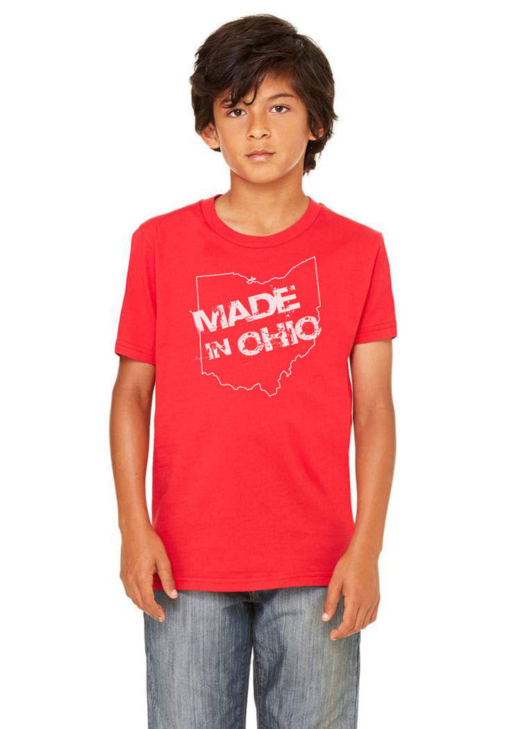Made in Ohio - Red T-Shirt - Youth - Celebrate Local, Shop The Best of Ohio