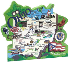 State of Ohio Map Wood Shelf Sitter - Celebrate Local, Shop The Best of Ohio