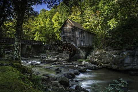 The Glade Creek Grist Mill - Unframed Photographic Print - Celebrate Local, Shop The Best of Ohio