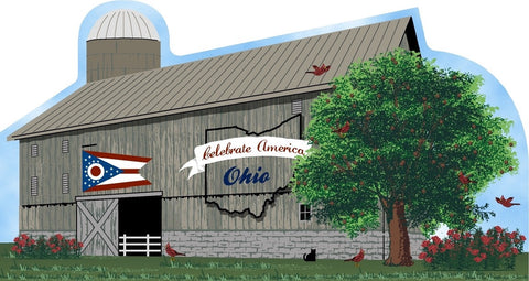 State of Ohio Side of Barn Wood Shelf Sitter - Celebrate America Collectible Series - Celebrate Local, Shop The Best of Ohio