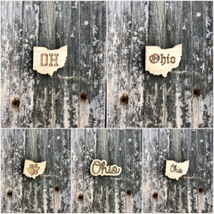 Ohio Wood Magnet (Various Styles)