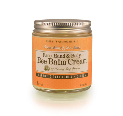 Bee Balm Cream - Carrot & Calendula Citrus 2 oz - Celebrate Local, Shop The Best of Ohio
