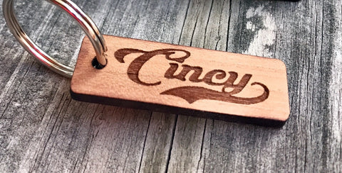 Cincy Wood Key Chain - Celebrate Local, Shop The Best of Ohio