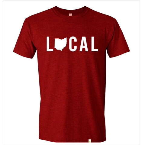 Local Ohio Unisex T-Shirt - Red - - Celebrate Local, Shop The Best of Ohio