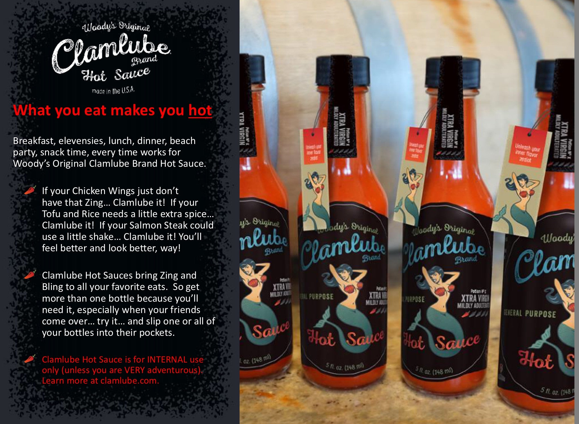 Clamlube Potion No.X Xtra Virgin Mildly Adulterated Hot Sauce - Celebrate Local, Shop The Best of Ohio - 2