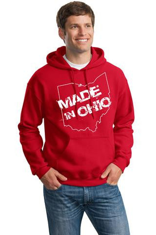 Made In Ohio - Youth - Red Hoodie - Celebrate Local, Shop The Best of Ohio
