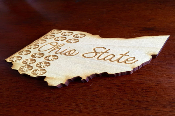 Ohio Themed Wood Coasters - Single (Various Styles) - Celebrate Local, Shop The Best of Ohio - 5