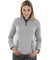 Light Gray Heathered Fleece Pullover