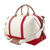 Red Weekender Bag - Upward Mark Monogram