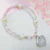 Little Girl's Heart Charm Bracelet - Upward Mark - 1
