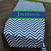 Personalized Chevron Beach Towel