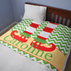 Elf Holiday Christmas Blanket Fleece Gift