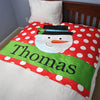 Snowman Personalized Fleece Blanket - Upward Mark