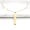 Gold Personalized Vertical Bar Necklace - Upward Mark - 1