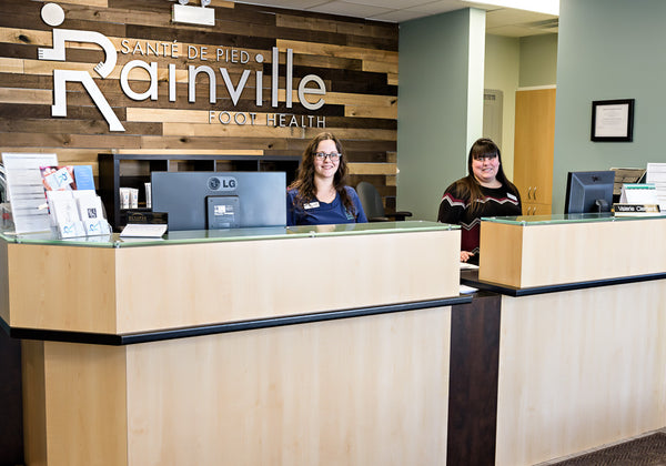 Reception at Rainville Foot Health