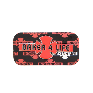 INDEPENDENT BAKER 4 LIFE PIN - RED