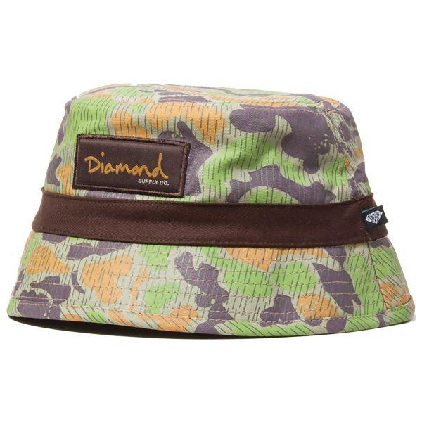 DIAMOND SUPPLY BUCKET HAT - TAN/CAMO