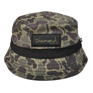 DIAMOND SUPPLY BUCKET HAT - BLACK/CAMO